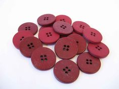 flat matte buttons matching buttons four hole color by mudintheUSA
