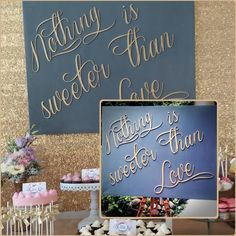 Wedding board Chalkboard Quotes, Art Quotes, Wedding Decorations, Woodworking, Sweet, Candy, Joinery, Wood Working, Woodwork