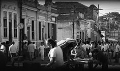 Antes de se chamar Vila Mimosa, o primeiro local de prostituição da região foi a Zona do Mangue, próximo à atual Avenida Presidente Vargas, no Centro. A imagem é de 16 de novembro de 1973 Eurico Dantas / Agência O Globo