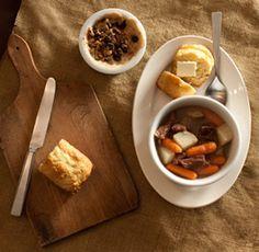 An Irish Meal...Slow Cooker Irish Stew, Irish Soda Bread, and Baked Apples (From MomSense Magazine)