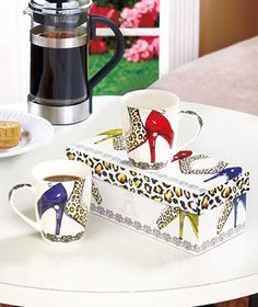 Set of 2 Gift-Boxed Shoe Lover Mugs