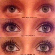 Dramatic Difference with Younique 3D Mascara! Look at those lashes!