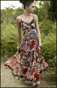 Tiered Floral Maxi Dresses