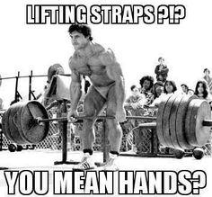 Lifting straps?? Franco rocks...