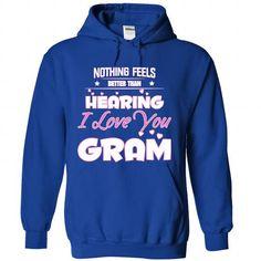 I love you Gram - #flannel shirt #animal hoodie. WANT THIS => https://www.sunfrog.com/Funny/I-love-you-Gram-9420-RoyalBlue-Hoodie.html?68278