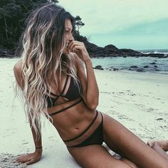 21 Perfect Bikini to Show Up This Summer - Off shoulder black and white striped bikini #summerwear #swimsuit