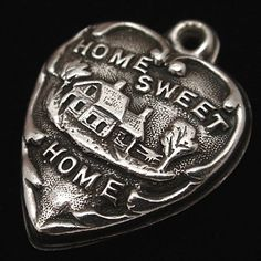 Vintage sterling silver puffy heart