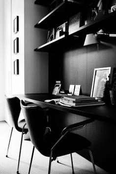 black on black on black home office. Kristofer Johnsson