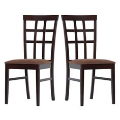 @Overstock - Warehouse of Tiffany Justin Dining Chairs (Set of 4) - Give your kitchen or dining room a great new look with this set of four oak dining chairs. Their fabric-covered seats will keep you, your family, and guests comfortable, while the chairs' light cappuccino finish will go well with your decor.  http://www.overstock.com/Home-Garden/Warehouse-of-Tiffany-Justin-Dining-Chairs-Set-of-4/6332336/product.html?CID=214117 $215.99