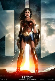 The queen of Justice League! New poster starring Wonder Woman. So damn beautiful! #unitetheleague