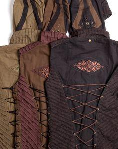 Men's Festival Space Vest w Detachable Hood & Side Lacing