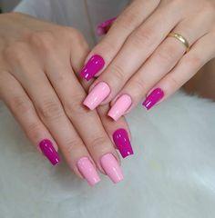 Cute Acrylic Nail Designs, Cute Acrylic Nails, Cute Nails, Pretty Nails, Gel Nails, Ballerina Acrylic Nails, Pink Ombre Nails, Nail Art Designs Videos, Glamour Nails