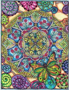 Rose & Butterfly Mandala by Carolyn Boettner
