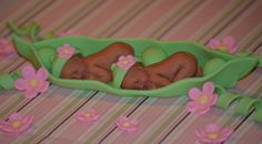 2 Peas in a Pod cake topper set by DreamDayShoppe on Etsy, $40.00