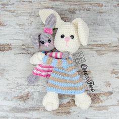 Bo the Bunny Cuddler PDF Crochet Pattern Instant Download -easter gift - diy