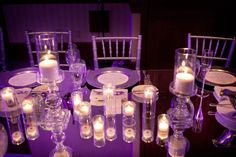 Mirror table top head table. Tailored Engagements had the tools you can't find anywhere else to make your reception one of a kind!   Photograph by David Orndorf