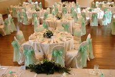 Mint green chair sashes