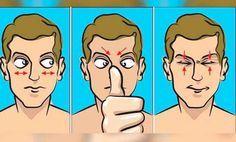 Exercícios - olhos - pontos de massagem - Cura pela Natureza
