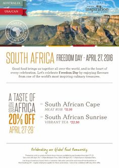 Taste of South Africa Day!