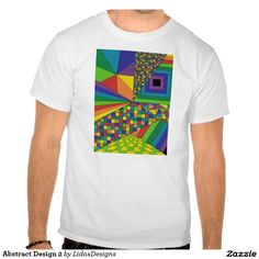 Abstract Design 2 Men's Basic T-Shirt #cool #abstract #colourful #colour #art #geometric #illustration #unique #custom #original #creative #design #tshirts