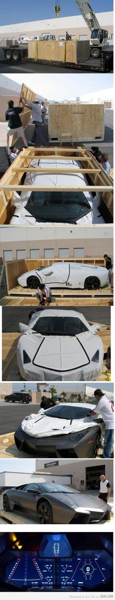 Lamborghini unboxing, yes, Unboxing... I am SO JEALOUS!