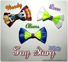 Magical Ribbons - Toy Story minis    This lady makes ALL Disney bows!! EEP!