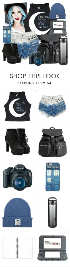 """""""Contest Suggestions"""" by neverland-is-just-a-dream-away ❤ liked on Polyvore featuring Levi's, H&M, Eos, Diesel, KOR, Muji and Nintendo"""