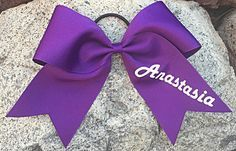3 Texas Sized 7x7 Cheer Bow with Name in by JustImagineThatBows