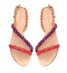 Sandálias entrançadas, by Zara