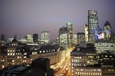Choosing The Right Office Location - London Night Skyline Viewed From The Top Of The Monument