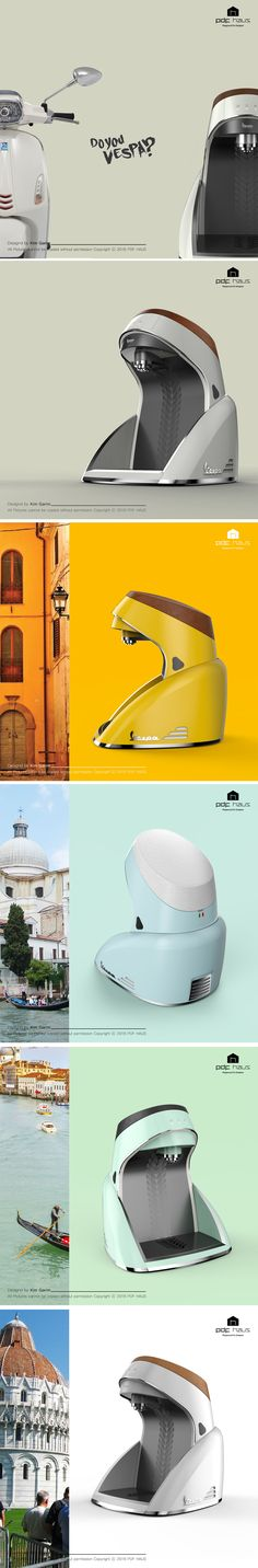 Vespa / water purifier / Product design / Industrial design / 제품디자인 / 산업디자인 / 디자인교육_PDF HAUS Design Academy 색이 좋다