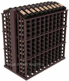 """Wooden 260 Bottle Single Reveal Aisle Wine Cellar Rack Storage Kit in Mahogany with Burgundy Stain + Satin Finish by Wine Racks America®. $827.90. 1 3/8"""" Toe Kick Standard:We lift our racks up higher so your bottles are not sitting on the floor. Eco-friendly wood sources in sustainable forests. Some Assembly May Be Required. Easy-edge Bottle Holders:Measuring 11/16"""" x 11/16"""" x 12 5/16"""" long - thicker and longer than the competition and your wine bottle labels won't tear b..."""