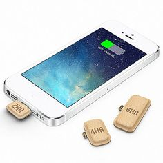 Just break a battery capsule off and plug it into your smartphone for up to six extra hours of talk time.