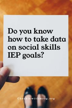 Take data on social skills iep goals! Three strategies for progress monitoring for special education IEP goals in the area of social skills. Monitor social skills progress in your classroom. . . #socialskills #socialskillsdata #socialskillsiepgoals #progressmonitoring