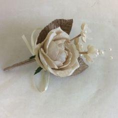 WEDDING FLOWERS ARTIFICIAL GROOM GUEST MOTHERS BUTTONHOLE CORSAGE VINTAGE VELVET