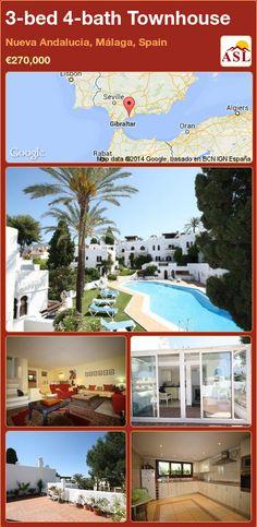 3-bed 4-bath Townhouse in Nueva Andalucia, Málaga, Spain ►€270,000 #PropertyForSaleInSpain