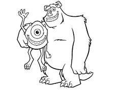 Mike Wazowski Confused | Monsters, Inc Coloring Pages | Pinterest ...