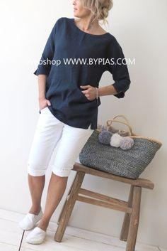 Perfect Jeans Capri/Shortsit, VALKOINEN