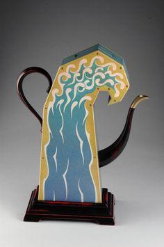 Sean O'Meallie (American, b. 1955) Teanami (Boxed Wave Teapot)