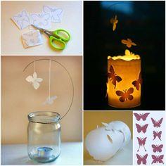 Come fare lanterne con barattoli di vetro
