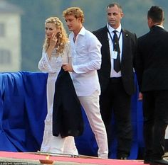 Beatrice Borromeo and Pierre Casiraghi arrive in ivory ahead of 2nd wedding | Daily Mail Online