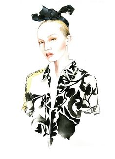 Dris Van Noten SS 2014 fashion illustration by Antonio Soares