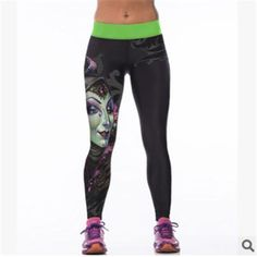 NEW WOMENS LADIES COMIC BLACK SKELETON BONE PRINT FULL LENGTH LEGGINGS SIZE 8-12