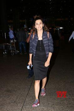 Mumbai: Taapsee Pannu spotted at Airport - Social News XYZ