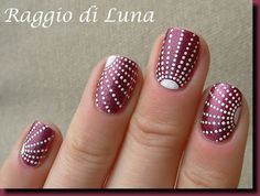 Raggio di Luna Nails: Dots shower #nail #nails #nailart