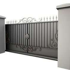 Wrought Iron Gate 34 Model available on Turbo Squid, the world's leading provider of digital models for visualization, films, television, and games. Iron Main Gate Design, Wrought Iron Gate Designs, Home Gate Design, House Main Gates Design, Steel Gate Design, Wrought Iron Driveway Gates, Metal Garden Gates, Front Wall Design, Gate Designs Modern
