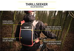 ThrillSeeker Solar Backpack | Indiegogo