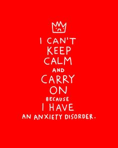 I can't keep calm.