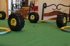 John Deere party cups...Monster truck cup with JD logo taped on!