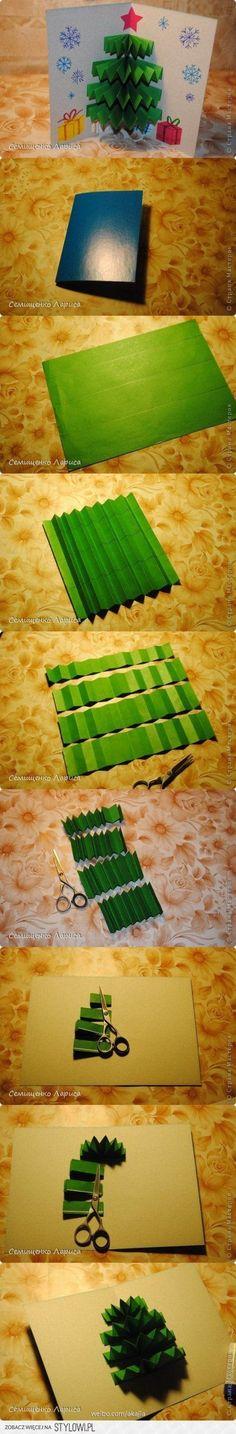 DIY Pop Up Christmas Tree Card DIY Projects   UsefulDIY ... on http://Stylowi.pl